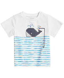 First Impressions Toddler Boys Whale Graphic T-Shirt, Created for Macy's