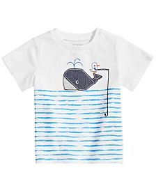 First Impressions Baby Boys Whale Graphic T-Shirt, Created for Macy's