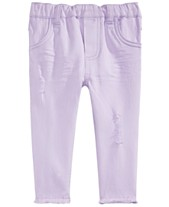 5071cb0ea First Impressions Baby Girls Raw-Edge Rip & Repair Jeans, Created for Macy's