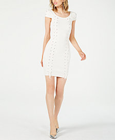 GUESS Ribbed Lace-Up Dress