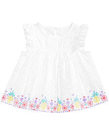 First Impressions Baby Girls Printed Eyelet Lace Top, Created for Macy's