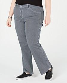Trendy Plus Size Striped Carpenter Pants
