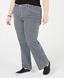 Dickies Trendy Plus Size Striped Carpenter Pants