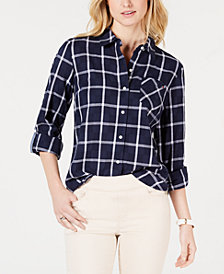 Tommy Hilfiger Windowpane Cotton Button-Down Shirt
