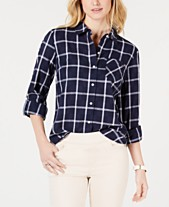 da29d4a781 Tommy Hilfiger Windowpane Cotton Button-Down Shirt