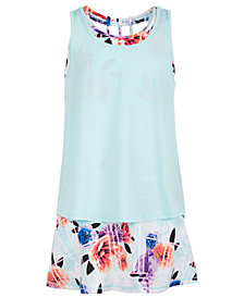 Ideology Big Girls Layered-Look Tank Top & Floral-Print Skort, Created for Macy's
