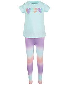 Ideology Little Girls Heart-Print T-Shirt & Ombré Leggings, Created for Macy's