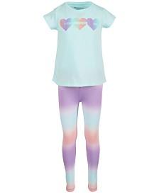 Ideology Toddler Girls Heart-Print T-Shirt & Ombré Leggings, Created for Macy's