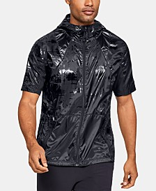 Under Armour Men's Printed Hooded Short-Sleeve Windbreaker