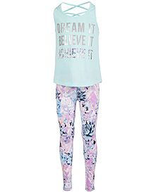 Ideology Toddler Girls Dream-Print Tank Top & Floral-Print Leggings, Created for Macy's