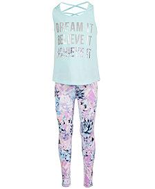 Ideology Little Girls Dream-Print Tank Top & Floral-Print Leggings, Created for Macy's
