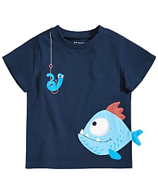 First Impressions Baby Boys Fish Graphic T-Shirt, Created for Macy's