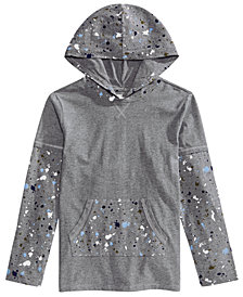 Epic Threads Little Boys Faux-Layer Paint-Splatter Hoodie, Created for Macy's