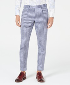 Tallia Men's Slim-Fit Striped Pants, Created for Macy's