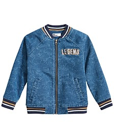Epic Threads Little Boys Legend Denim Bomber Jacket, Created for Macy's