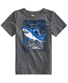 Epic Threads Little Boys Sequin Shark Graphic T-Shirt, Created for Macy's