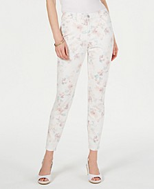 Floral-Print Skinny Jeans, Created for Macy's