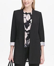Calvin Klein Petite Roll-Tab Topper Jacket