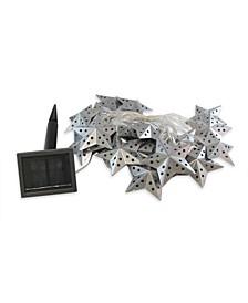 LumaBase 20 Light Metal Star Solar String Lights