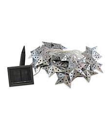 LumaBase 20 Light Metal Star Solar String Lights