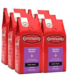 French Roast, Extra Dark Roast Premium Ground Coffee, 12 Oz - 6 Pack
