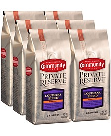 Private Reserve Louisiana Blend Dark Roast Specialty-Grade Ground Coffee, 12 Oz - 6 Pack