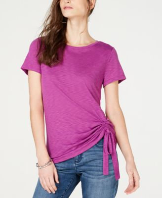 Image of I.N.C. Ruched T-Shirt, Created for Macy's