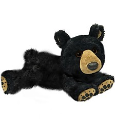 First and Main - Ebony Lying Black Bear Plush, 7 Inches