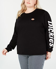 Dickies Trendy Plus Size Long-Sleeved Graphic T-Shirt