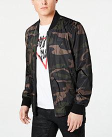 GUESS Men's Water Resistant Bomber Jacket