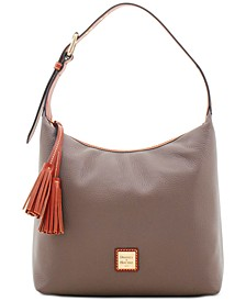 Patterson Leather Paige Pebble Leather Shoulder Bag