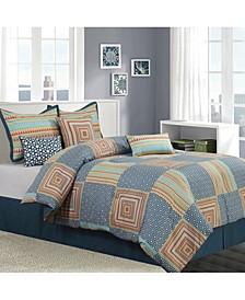 Amias Reversible 7-Piece Queen Comforter Set