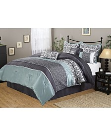 Roxanne 7-Piece Queen Comforter Set
