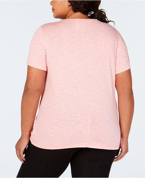 8d93c0eccc2 Ideology Plus Size Knot-Front T-Shirt