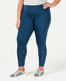 Ideology Plus Size Ankle Leggings, Created for Macy's