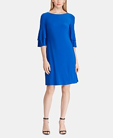 Lauren Ralph Lauren Jersey Ruffle-Sleeve Dress