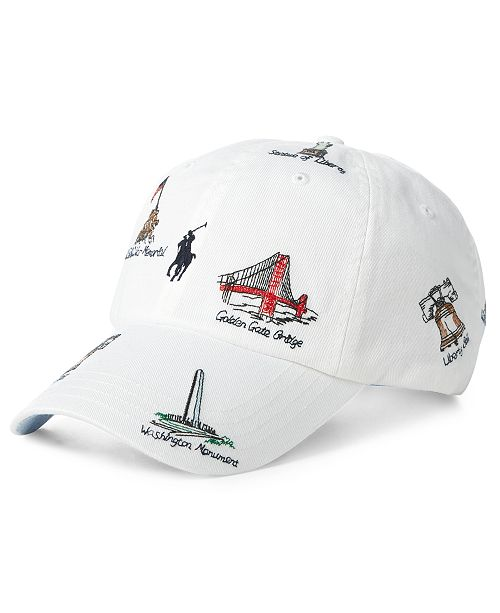 16a3f981aff59 Polo Ralph Lauren Men s Embroidered Americana Cap  Polo Ralph Lauren Men s  Embroidered Americana ...