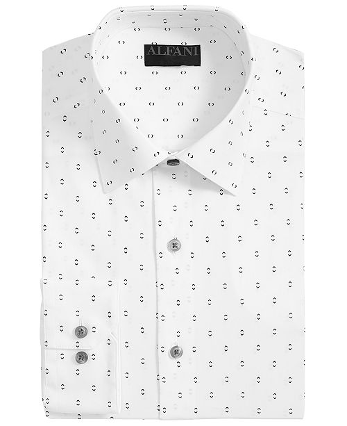 Alfani Men's AlfaTech Slim-Fit Performance Stretch Double Arrow Dress Shirt, Created for Macy's