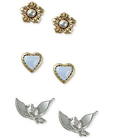 Lucky Brand Two-Tone 3-Pc. Set Spring-Themed Stud Earrings