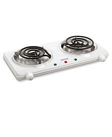 Salton Portable Cooktop Double Burner White