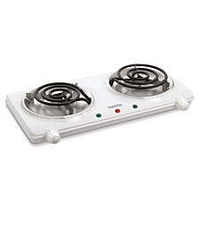 Salton Portable Cooktop Double Burner White