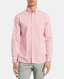 Calvin Klein Men's Striped Stretch Cotton Shirt