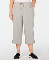 ce8ed64f39f30 Karen Scott Plus Size Terry Drawstring Capri Pants