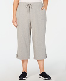 Karen Scott Plus Size Terry Drawstring Capri Pants, Created for Macy's