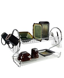 "MegaChef 22"" Two Shelf Dish Rack"