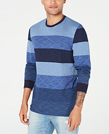 American Rag Men's Colorblocked Striped Sweater, Created for Macy's