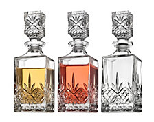 Godinger Dublin Set of 3 Mini Decanters
