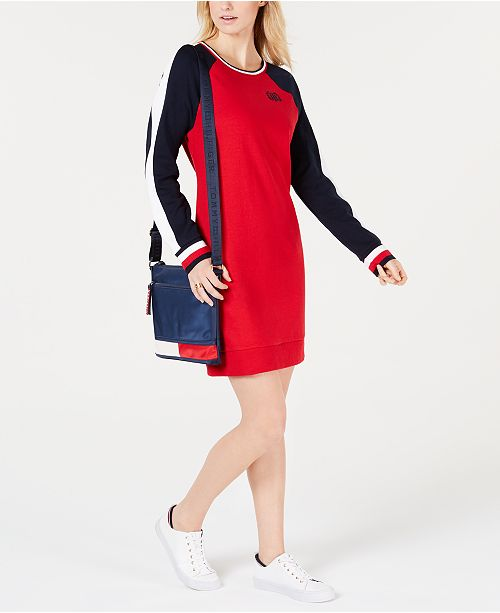 c6524d068bf6 Tommy Hilfiger Colorblocked Raglan-Sleeve Shift Dress   Reviews ...