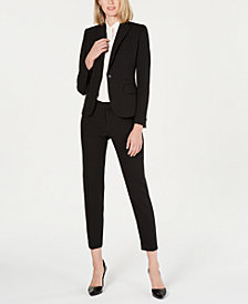 Anne Klein Single-Button Pinstripe Jacket, Pants & Blouse