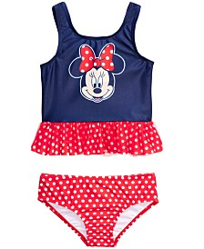 Dreamwave Toddler Girls 2-Pc. Minnie Mouse Graphic Tankini Set